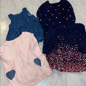 4 Fall Baby Gap Dresses, Sz 6-12 Months